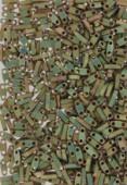 Miyuki QuarterTila Beads QTL-2035 matted metallic khaki iris x10g