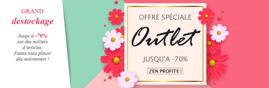 Offre Outlet : jusqu'à -70% sur des milliers de références !