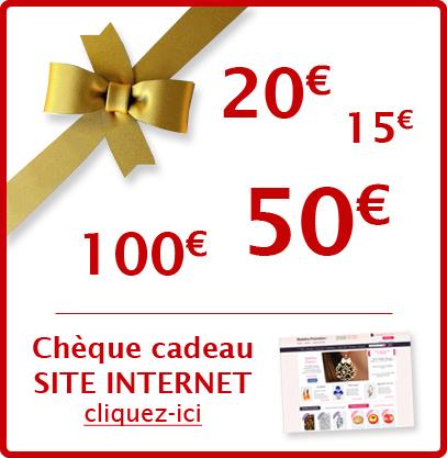 Chèque cadeau pour le site internet