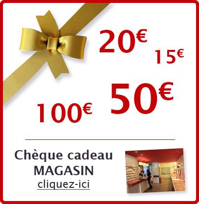 Chèque cadeau pour le magasin